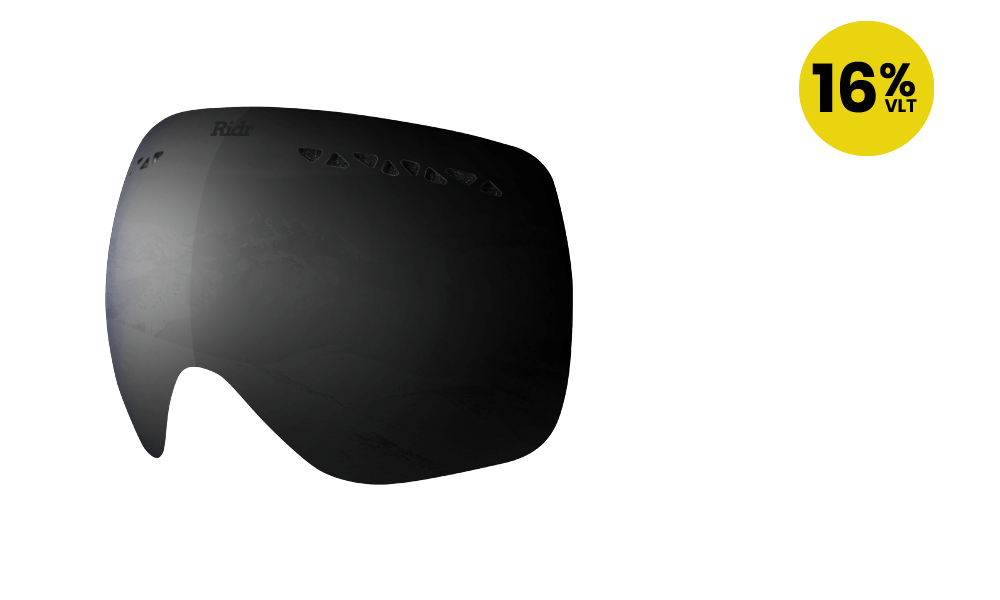 Ridr Edge Ski Goggles Black Polarised Lens
